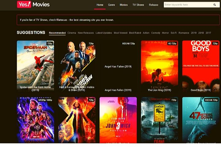 Yesmovies | Best 10 Alternatives And Similar Sites Like Yes Movies
