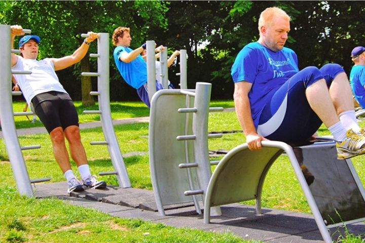 Sport Classes In The Outdoor Gym